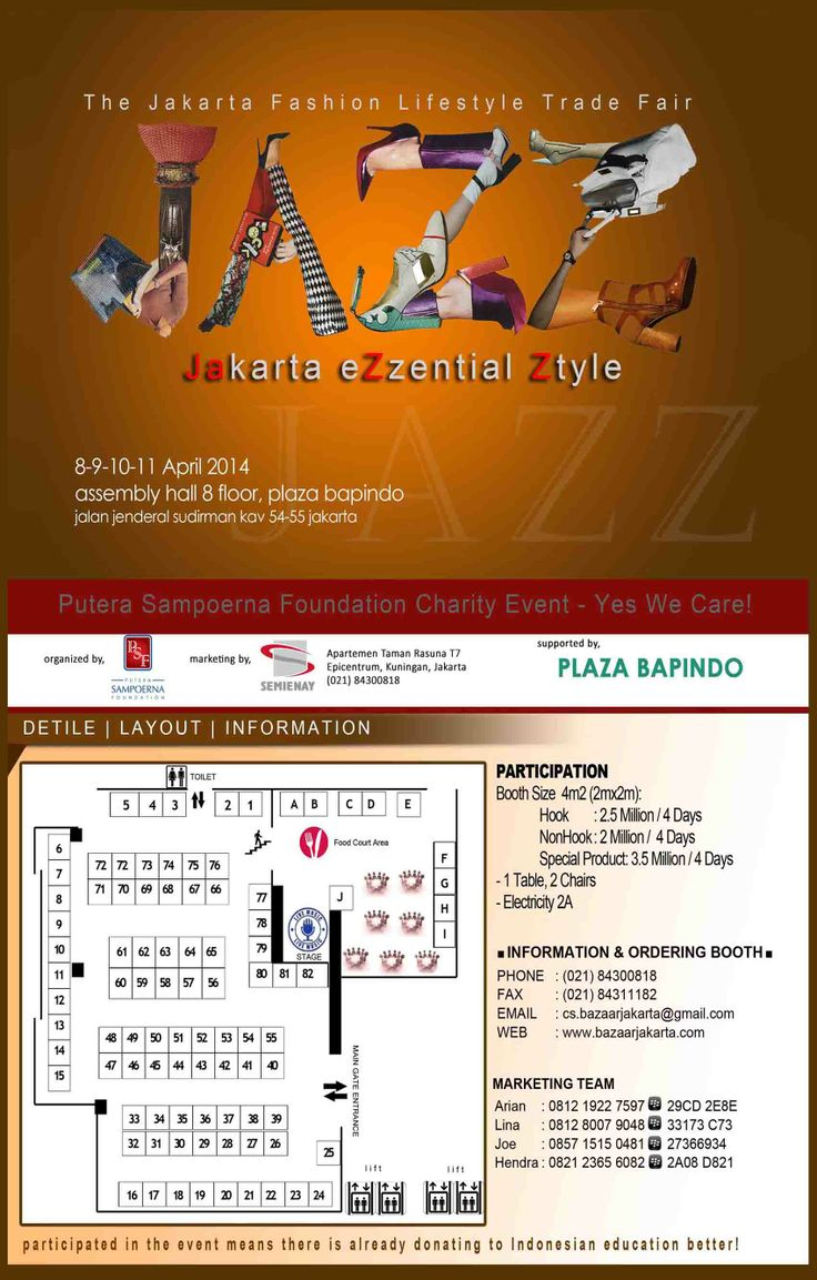 """Join your best product in """"JAZZ"""" Jakarta eZzential Ztyle 8-11 April 2014 @Bapindo"""