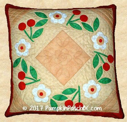 Cherry Wreath Pillow PPP007-EIN