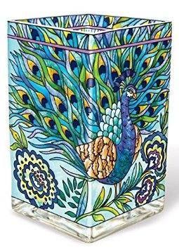 Hand Painted Glass Vase Peacock Design $42.99 www.allthingspeacock.com