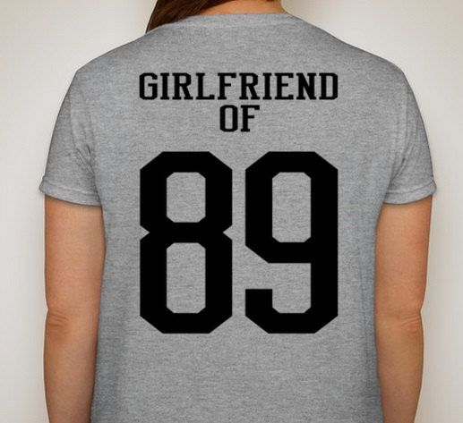 Sports Girlfriend of  Customized t-shirt Available in Football, Soccer,Baseball, Wrestling, Hockey, and Basketball.  Custom choose colors to match team colors by DesignsbyJackelyn