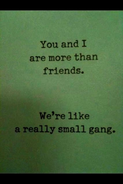 really small gang. I can put a couple of names in this gang...