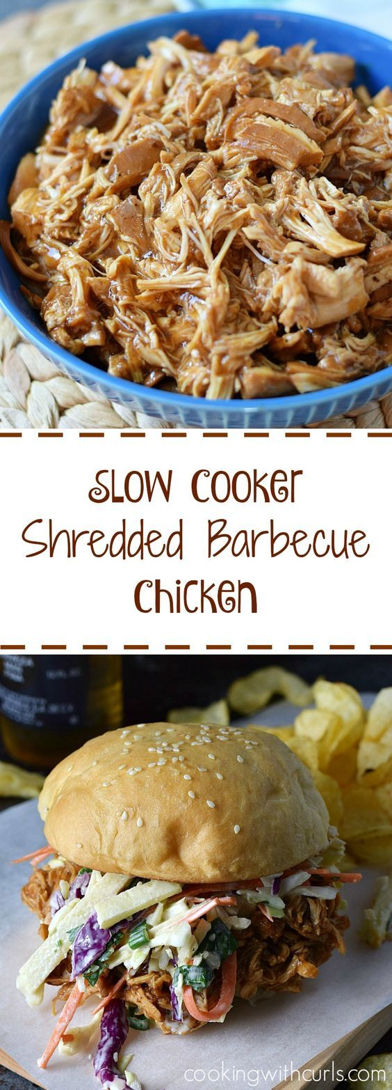 (58) Slow Cooker Shredded Barbecue Chicken | Recipe