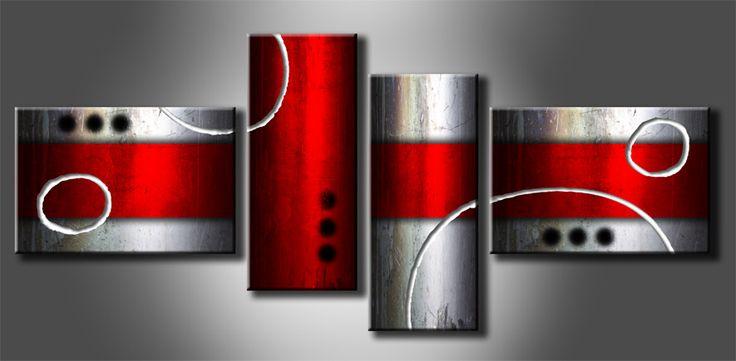 MA_1 Cuadro Abstracto Cilindros Metalizados _ R