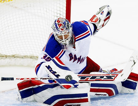 Henrik Lundqvist, the goalie of the New York Rangers!