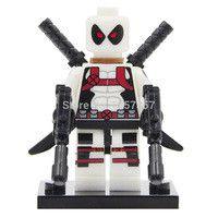Builder Block Minifigure White Deadpool