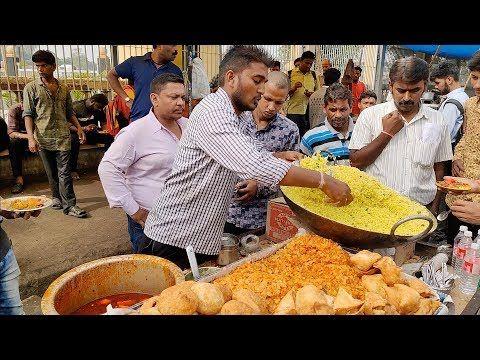 Breakfast Rush in Nagpur | Speedy Guy serving Poha to Crowd | Indian Street Food…