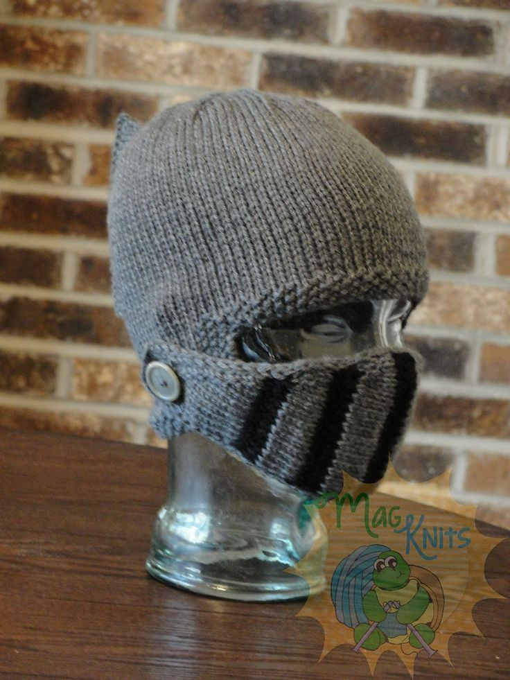 Ravelry: Sir Knight Helmet - KNIT pattern by Martina Gardner