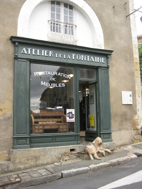 Excideuil, France 2012 Atelier de la Fontaine (appropriately there was a fountain just in front of the shop)