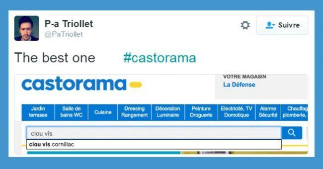 Top 14 des trucs à pas chercher sur le site de Castorama léger souci de moteur de recherche
