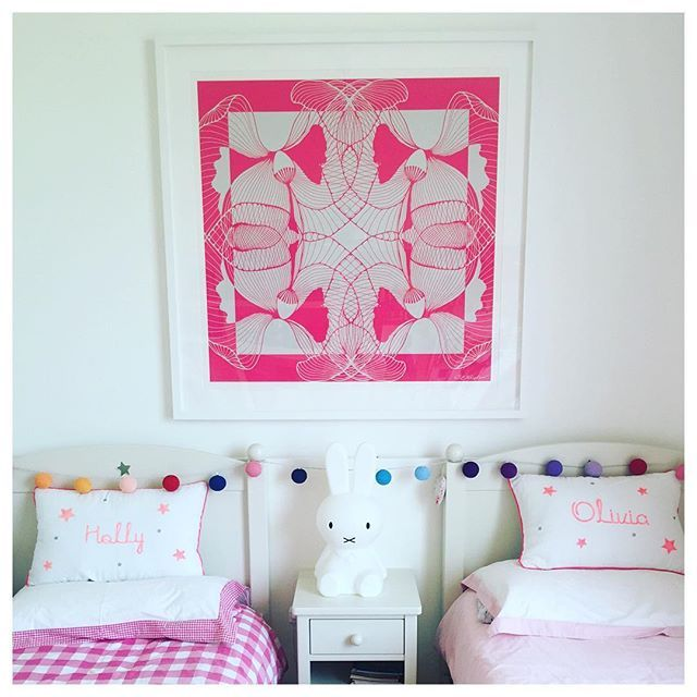 Geo-Flora print looking gorgeous gorgeous gorgeous in @helenlhughes little girls room 💖💖💖 #igart #instaart #art #pattern #textiles #graphics #drawing #nature #penandink #sketch #artist #design #illustration #original #limitededition #photooftheday #instadaily #lifestyle#inspiration #summer #interiors#interiordesign #home #style #decorate #homedecor #interiorstyling #homestyle