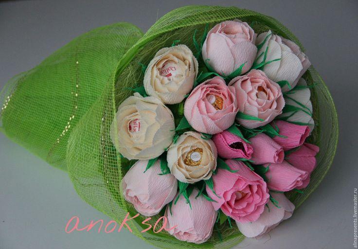 Купить Букет роз - комбинированный, букет, букет роз, сладкий подарок, сладкий букет