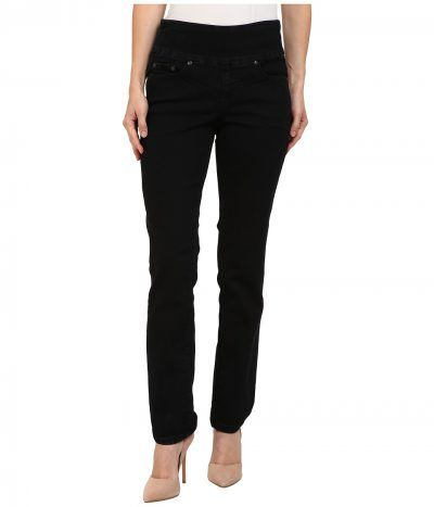Jag Jeans Petite - Petite Peri Pull-On Straight in Black Void (Black Void) Women's Jeans