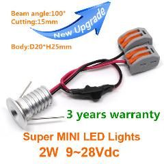 [ 21% OFF ] Super Mini Embedded Led Downlight 2W Led Spot Light Led Ceiling Lamp Solar Power 12/24V 2W 100D 15Mm Cut