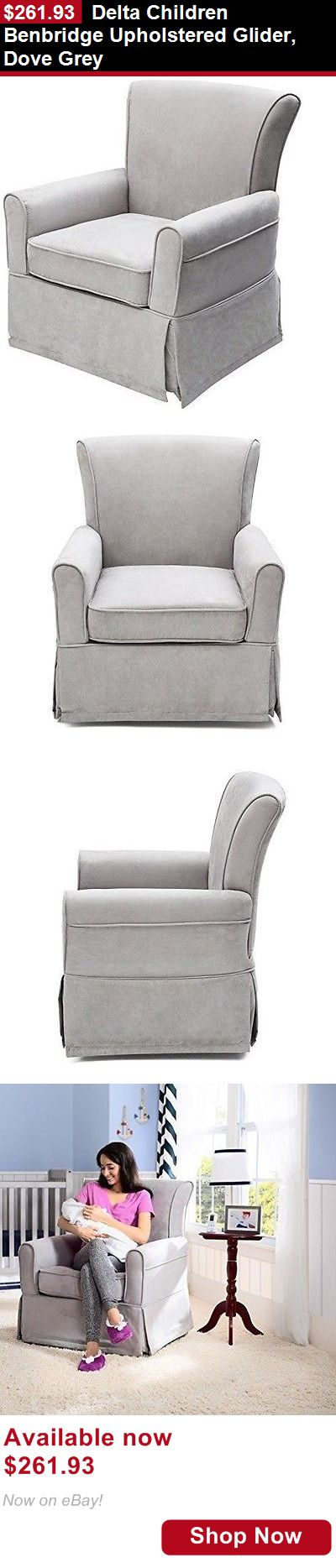 Rockers Gliders: Delta Children Benbridge Upholstered Glider, Dove Grey BUY IT NOW ONLY: $261.93
