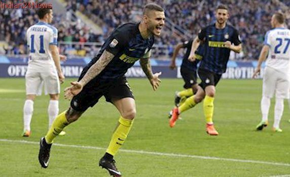 Mauro Icardi and Ever Banega net hat tricks as Inter Milan beat Atalanta 7-1