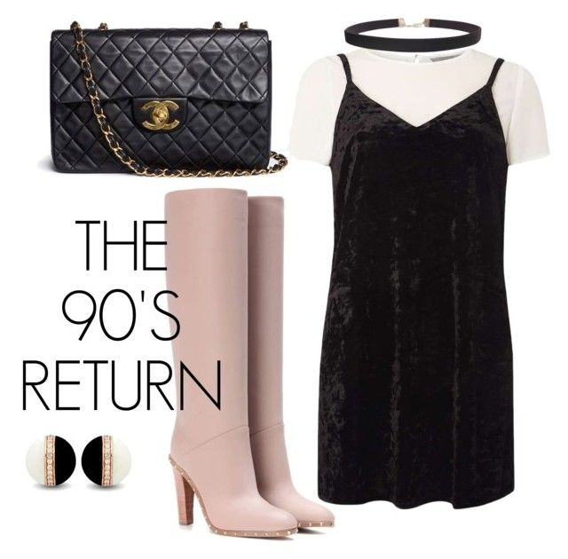 """Untitled #3"" by julygm93 on Polyvore featuring Dorothy Perkins, Valentino, Chanel and Humble Chic"