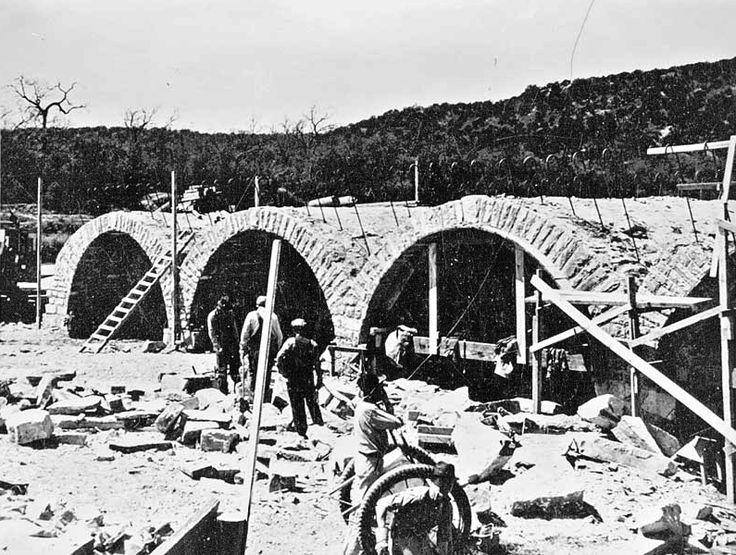 Low water bridge under construction on state highway 16