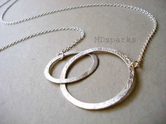 Mother and Child Necklace in Sterling Silver by MDsparks on Etsy, $18.00