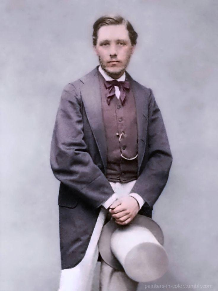 French artist Edgar Degas (1834–1917) as a young man.