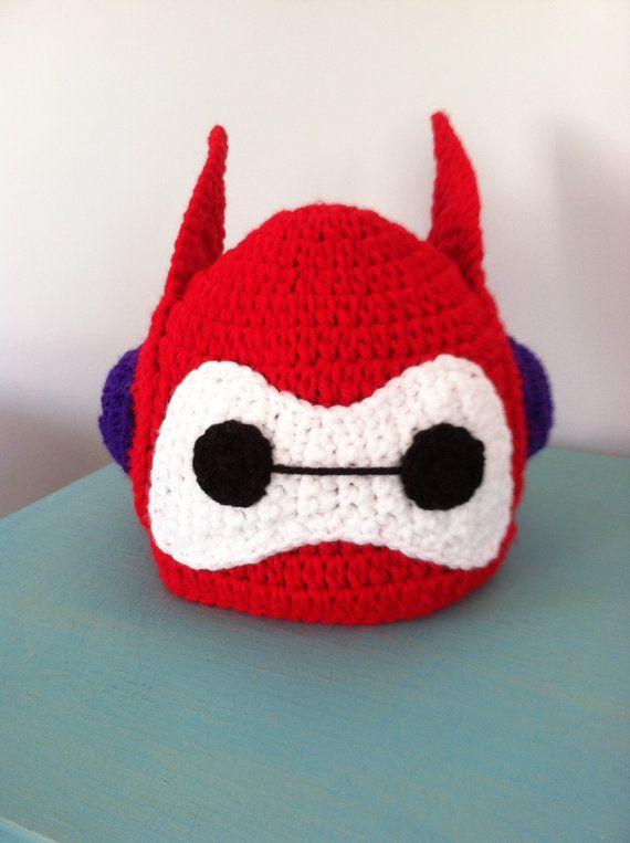 Big Hero 6 Baymax Hat by crochetherodesigns on Etsy