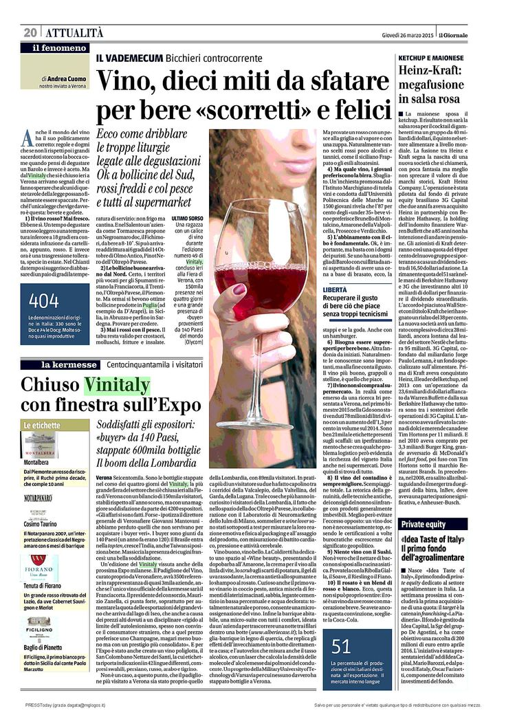 #Vinitaly2015 #Verticalieparallele #Irpinia #CCIAA_AV #RassegnaStampa @ilgiornale