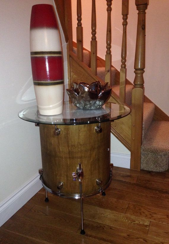 Drum Table a side table made from a floor tom of by DrumFurniture & 37 best drum tables images on Pinterest | Drum table Drum and Drum kit