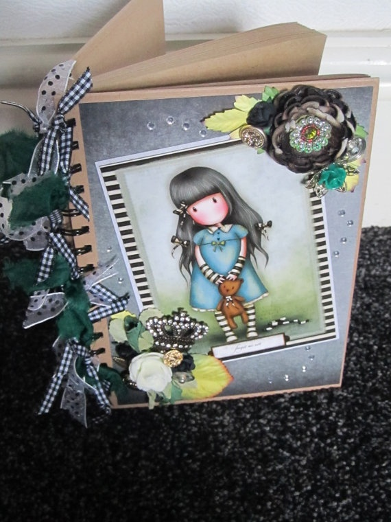 Bespoke Gorjuss Girl Vintage inspired Note by Craftswithchrissie