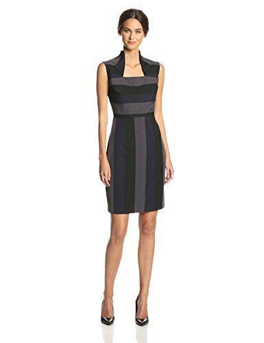 Black Color Block Fishtail Halter Round Neck Sleeveless Dress Blocking And Dresses