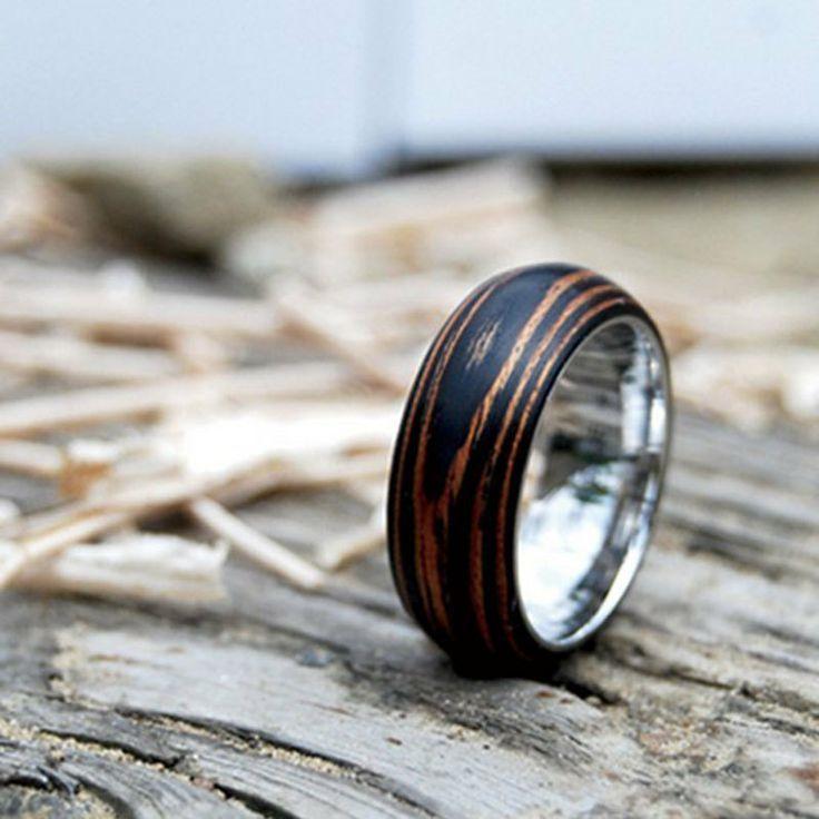 Best 25 Mens Wooden Wedding Bands Ideas On Pinterest