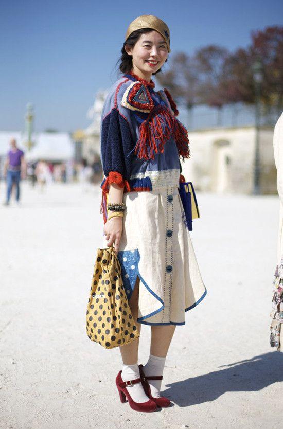 in ParisStreet Fashion, Street Peepers, Global Street, Street Style, Fashion Street, Tsumori Chisato, Paris Fashion Weeks, Paris Street Style, Yarns Sweaters