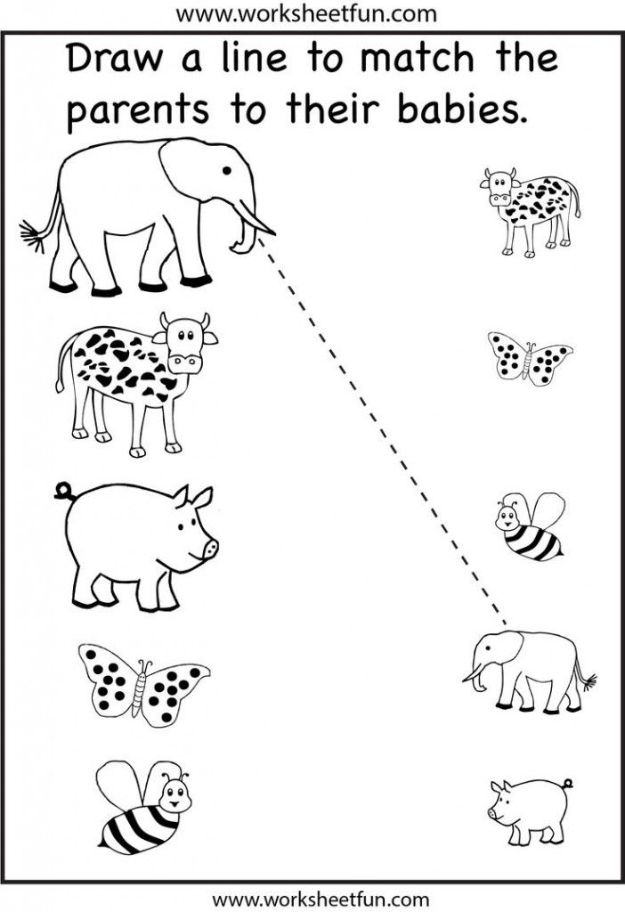 Preschool Matching Worksheet Fun Worksheets For Kids, Preschool Worksheets,  Free Preschool Worksheets