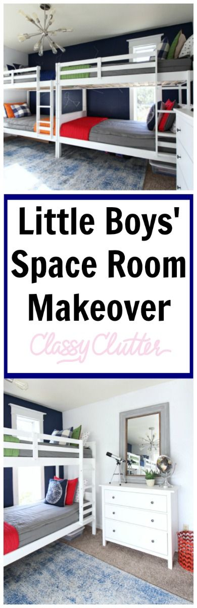 Little Boys Astronaut Space Bedroom Ideas - Colorful, clean and classy looking! - www.classyclutter.net