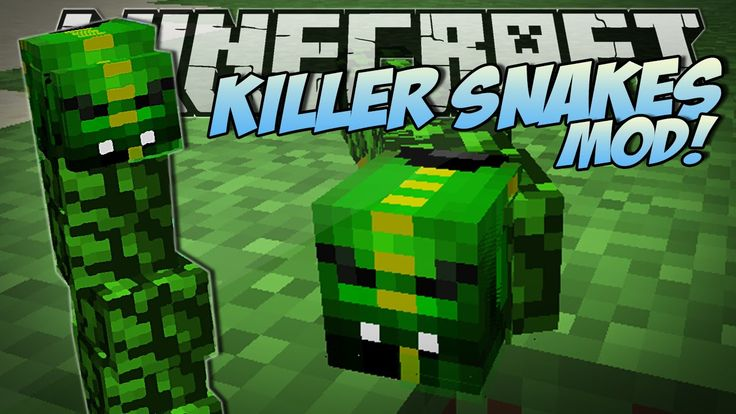 NEW today; Jan 28 2015 from DAN TDM!!! | #Minecraft | KILLER SNAKES MOD (Become a Snake Charmer!) | Mod Showcase