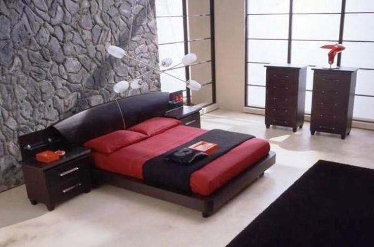 Black And Red Bedroom Enchanting Decorating Design