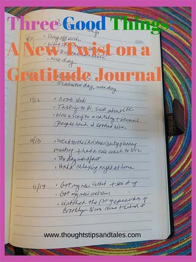I've tried several times to keep a gratitude journal over the years, but failed. This method was much easier!