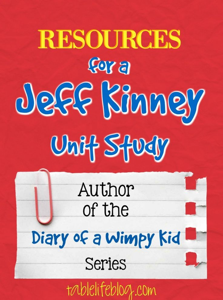 Jeff Kinney Homeschool Unit Study - Diary of a Wimpy Kid author