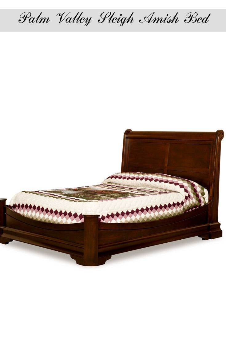 Palm Valley Sleigh Amish Bed Rustic Bedroom Furniture
