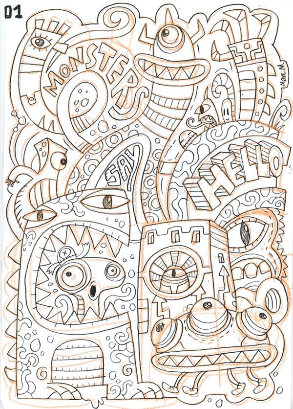 10 best doodle art images on pinterest doodles monsters for Doodle art monster