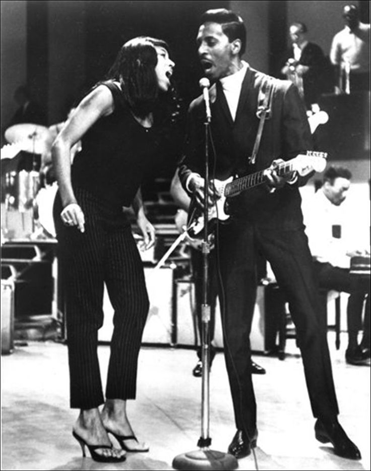 Tina and Ike Turner are shown in a 1966 performance.
