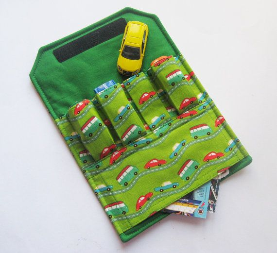 This is awesome!! I can't sew, but Mim always wants to bring his cars places.  I ordered one that was themed after Cars the movie!!