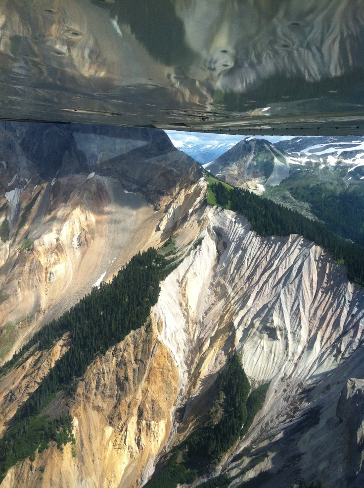 Awesome shot of Mt. Cayley! Up close and personal....
