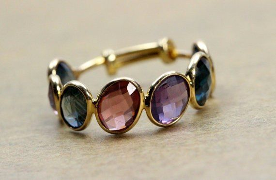 unique sapphire stackable ring collection!