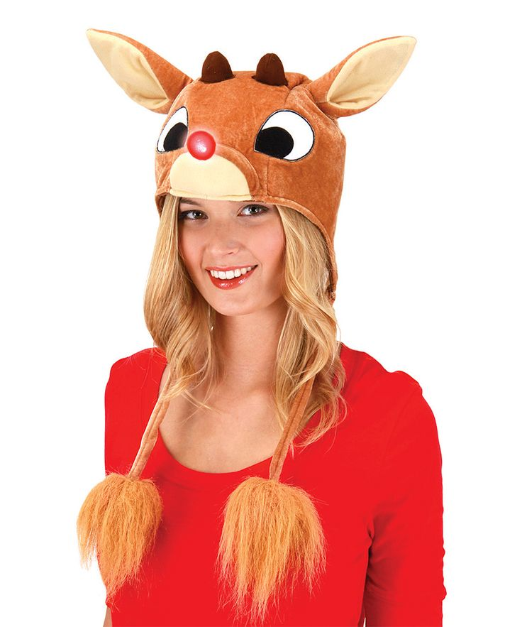Rudolph the Red-Nosed Reindeer Light-Up Hoodie Hat