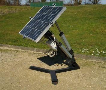 suiveur solaire, poursuite automatique du soleil, optimisant la production d'énergie. #suiveur#solaire#tracker