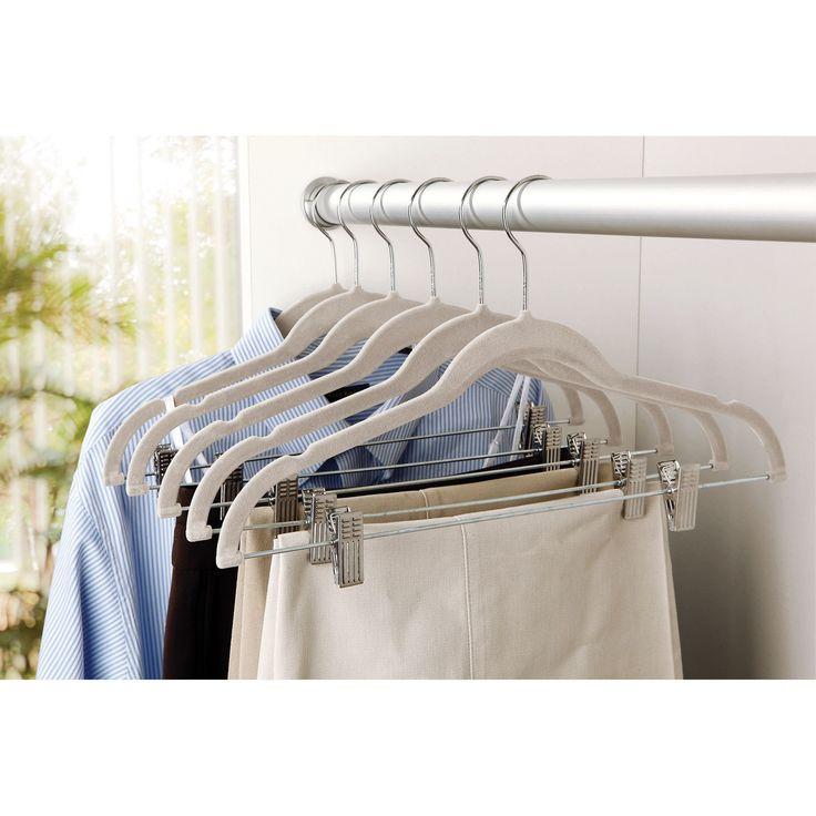 Velvet Suit Coat Non-Slip Hanger with Clip