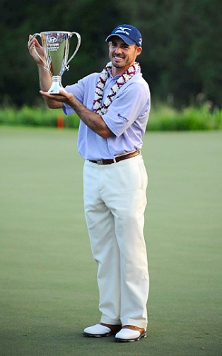 Jonathan Byrd is solid, al be it a fashion forward shade of lavender. 2012