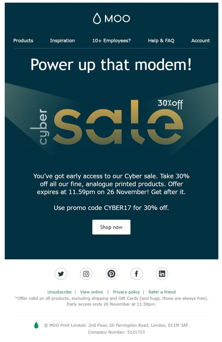 76 Best Cyber Monday Emails Images On Pinterest Email Marketing