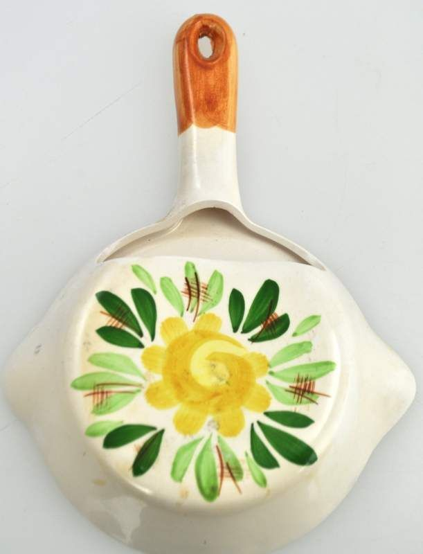 Vintage Ceramic Skillet Wall Pocket Planter Genius At Work P -668 ...