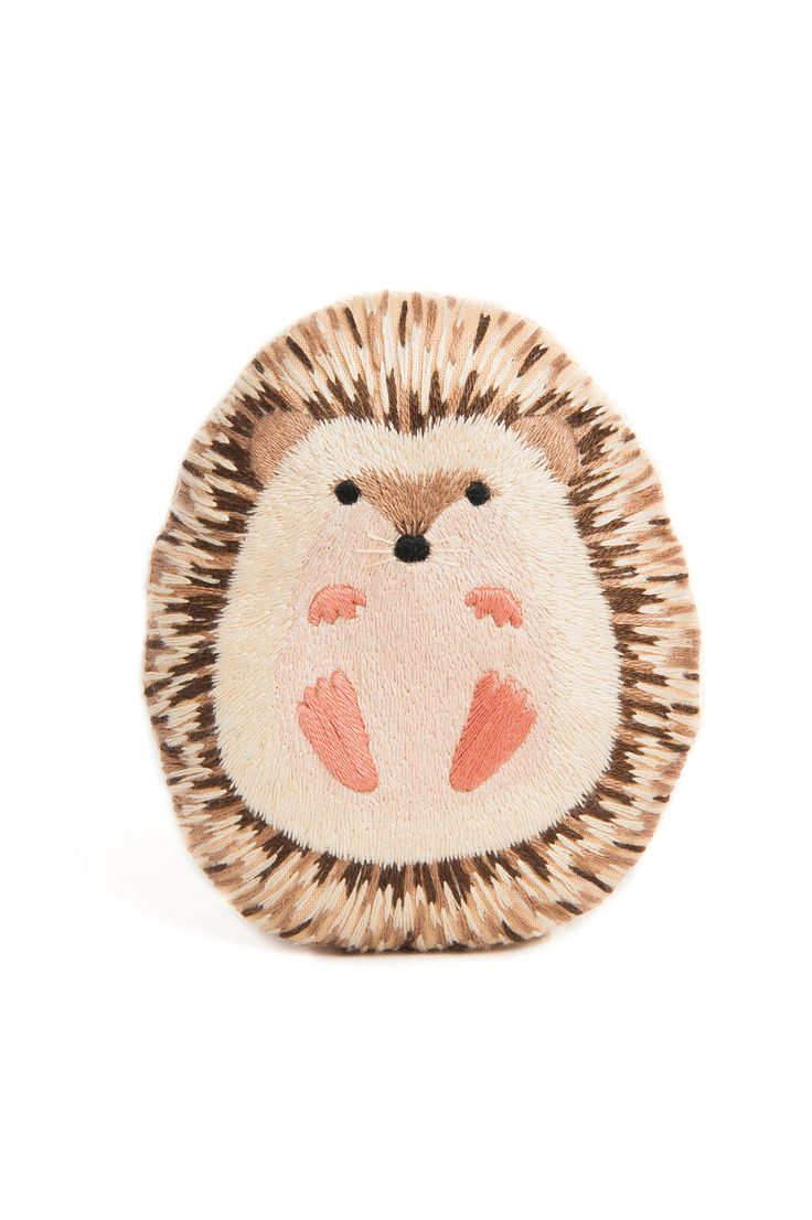 Hedgehog Embroidery Kit Needlework Kit DIY Kit Plushie