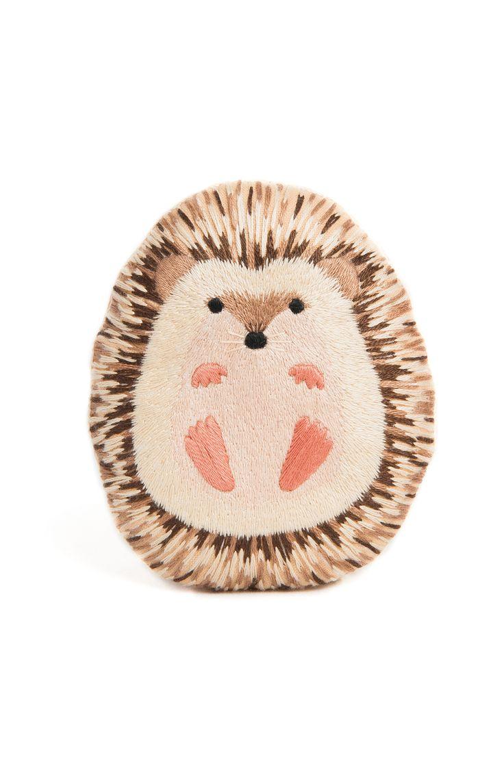 Hedgehog Embroidery Kit Needlework Kit DIY Kit Plushie